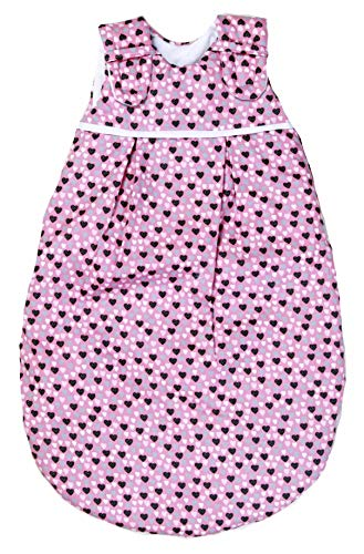 Babyschlafsack von Picosleep Herzchen Rosa (50/56)
