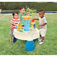 Fun aquatic game – perfect for children to discover many things. See water spin wheels or play with fun water games for kids! SHOCK, BARBOT, LEARN - The balls in the spiral go into the river; Turn the wheel to drop the balls; Pour water from the cont...