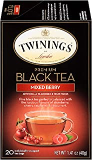 Twinings of London Premium Black Tea Mixed Berry, 20 Count (Pack of 6)