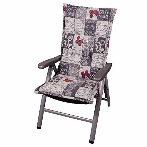 Auflage Kiruna für Klappsessel, 120x50x9 cm 75% Baumwolle, 25% Polyester