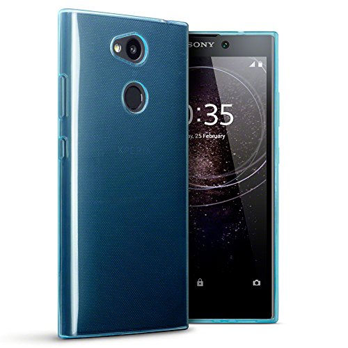 TERRAPIN, Kompatibel mit Sony Xperia L2 Hülle, TPU Schutzhülle Tasche Hülle Cover - Transparent Blau