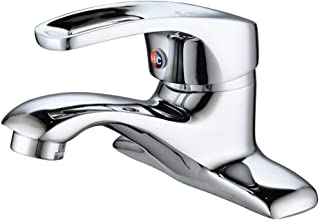 Single Lever Spiral Mixer with Double Hole in hot and Cold Brass (Color: A)