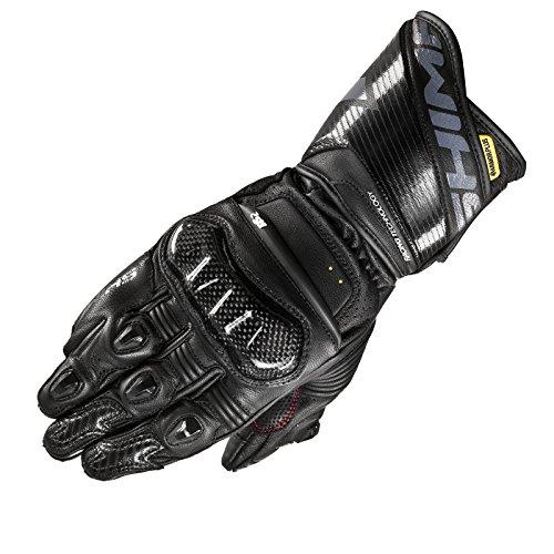 SHIMA RS-2 Guantes de verano, piel, deportes de carreras, Hombre, verano 2018, Moto, con marca CE, con protectores para moto (S–XXL)