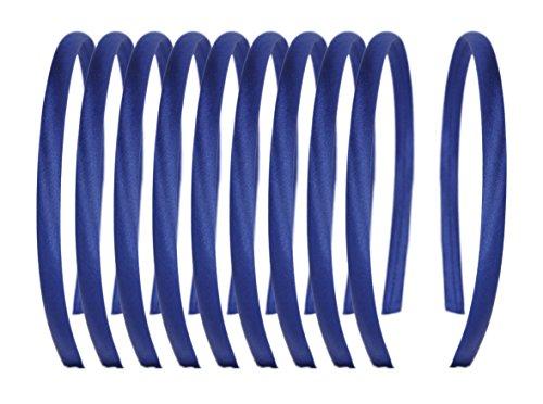 Fuchsia Serre-Tête Tête Bandes pour Filles École Day Wear Couleurs Ensemble de 10 - Bleu marine, Taille Unique