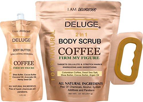 DELUGE - Exfoliante Organico de Cafe- Tonifica, Reduce la Celulitis 100%...