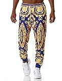 PIZOFF Pantaloni da jogging da uomo Hip Hop Golden con stampa 3D barocco Bunt-018. M