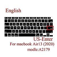 ラップトップキーボードカバーFor Macbook Air 13 2020保護フィルム新しいAir13.3 A2179シリコンキーボードカバーロシア語スペイン語韓国-A2179 US English-