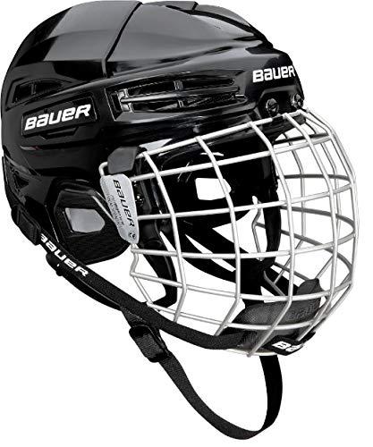 Bauer IMS 5.0 - Casco de Hockey con Jaula, Talla S, Color Blanco