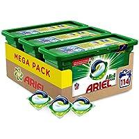 Ariel Allin1 PODS Original Detergente en cápsulas superconcentrado: limpia, quita manchas, ilumina en 1 lavado - 114 lavados (3 x 38)