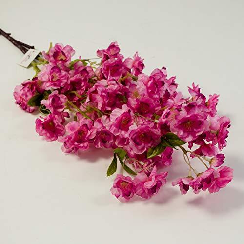 Détails sur la Soie Artificielle Fleur de Cerisier en 3 Couleurs pour décoration de Mariage, Rose Vif, 98 cm