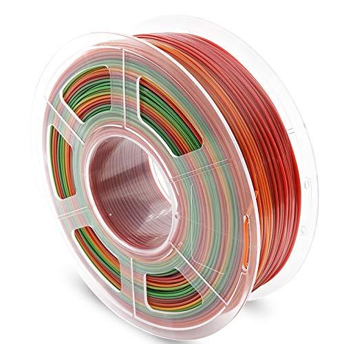 AnKun PETG Filament 1.75mm Rainbow Multicolor 3D Printer Filament, 1kg Spool 3D Printing Material, Dimensional Accuracy +/- 0.02 mm
