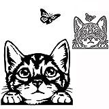 Troqueles De Corte De Metal Molde De Corte Animal Gato Y Mariposa Decoración Papel De Álbum De Recortes Artesanía Cuchillo Molde Hoja Punch Plantillas