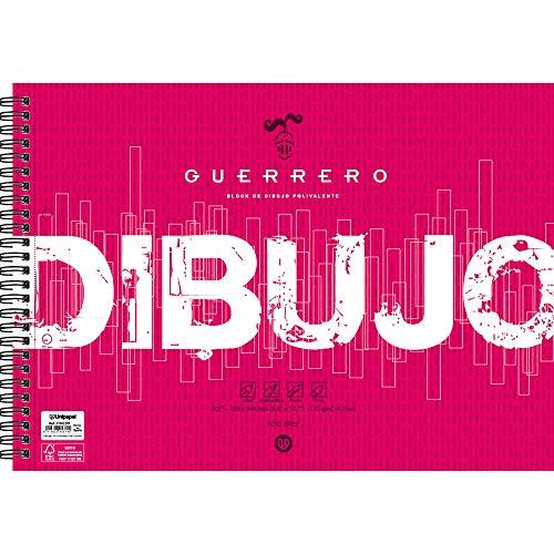 Unipapel Blocks 37002299. Block de Dibujo, Guerrero, 120 Gramos, Microperforado, 2 Taladros, Certificado FSC, Papel, Ahuesado, Liso