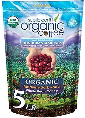 Subtle Earth Organic Coffee - Medium-Dark Roast from Marcala, Honduras