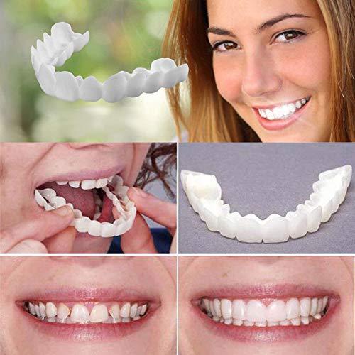Snap On Instant Perfect Smile Comfort Fit Carillas flexibles Dientes inferiores superiores