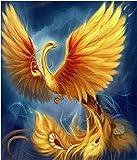 A3サイズ 火の鳥 ファイヤーバード上昇 フルダイヤモンドアート /全面貼り付けタイプ/四角型(スクエア)/モザイクアート/手芸キット