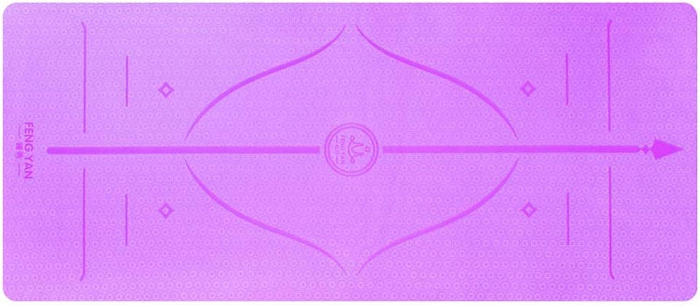 QYSZYG Yogamatte TPE Yogamatte, die breite 80CM Yogamatte verdickt, rutschfeste Anfnger-Eignungsmatte (Farbe   lila)