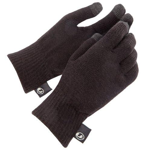 Ultrasport Wollhandschuhe mit Touchscreen-Funktion fuer alle Geraete mit kapazitivem Display, schwarz, L