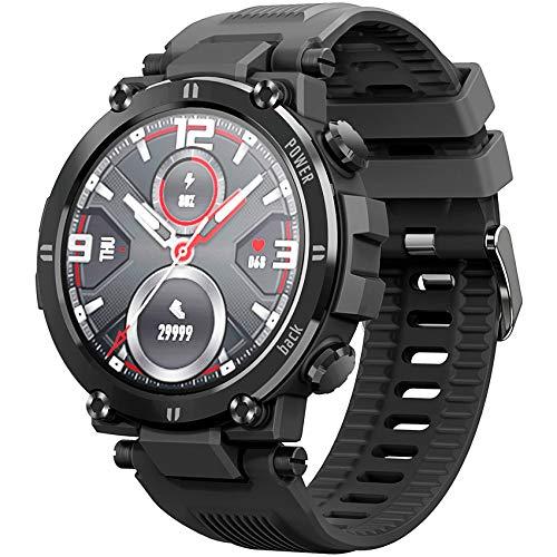 PHIPUDS Smartwatch,Reloj Inteligente con Pulsómetro,Cronómetros,Calorías,Monitor de Sueño,Podómetro Pulsera Actividad Inteligente Impermeable IP68 Smartwatch Hombre Reloj Deportivo para Android iOS