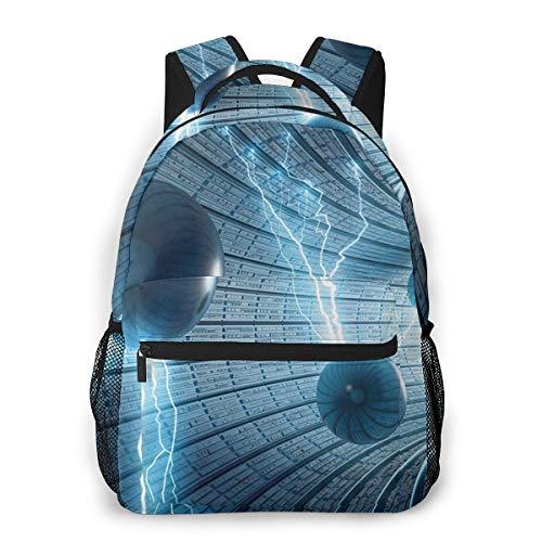 Rucksack Männer und Damen, Laptop Rucksäcke für 14 Zoll Notebook, Belletristik innerhalb des Tunnels elektrisch Kinderrucksack Schulrucksack Daypack für Herren Frauen