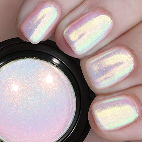 PrettyDiva Mermaid Chrome Nail Powder - Aurora Nail Powders Iridescent Mica Powder Unicorn Pigment for Nail Art, Multi Chrome Powder for Nails Chameleon Powder Manicure Pigment Glitter Dust#13