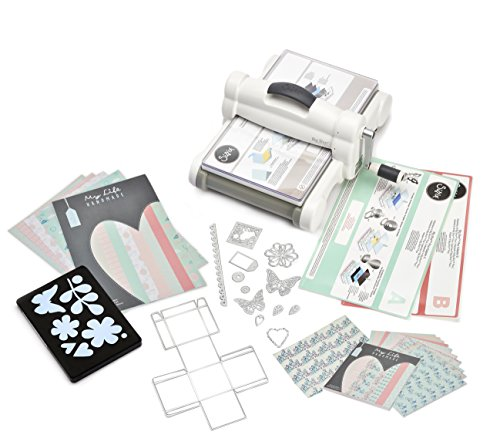 Sizzix Big Shot Starter Kit 661546, máquina de corte y repujado manual con...