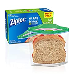 Use these handy sandwich bags to pack lunch for yourself and your family or just to keep snacks fresh and accessible Sandwich Bags are ideal for packing a lunch, cookies, chips, fruit, or even organizing crayons and so much more Great for grab and go...