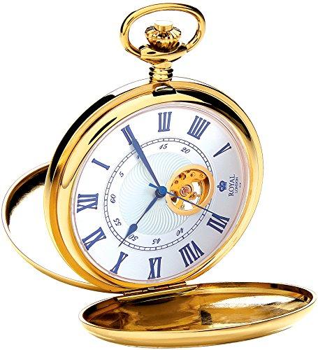 Taschenuhr Gold mechanisch Handaufzug Royal London 90051-02
