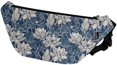 NETILGEN Fanny Bag for Men Women Lotus Flower Waist Packs Bags Chest Bag Hip Pack for Sports product image