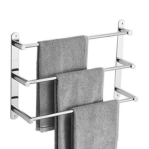 Handtuchhalter, 304 Edelstahl Handtuchstange Regal 3 Stangen, 50 cm Wand Bad Handtuchhalter, Handtuchstangen für Badezimmer Küchen Toilette