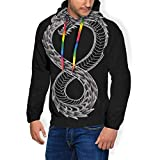 Ouroboros Takeshi Kovacs - Sudadera con capucha para hombre, diseño de tatuaje de carbono alterado Negro Negro ( S