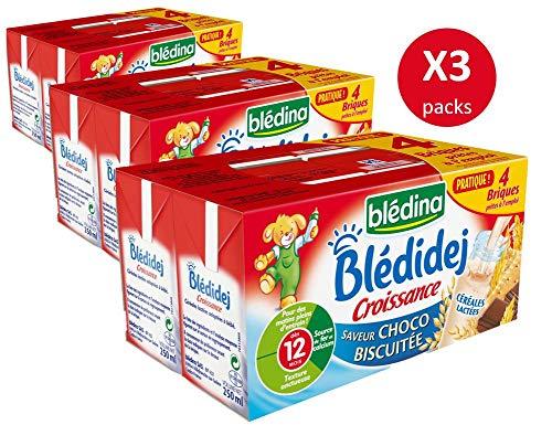 Blédina Blédidej 12 briques Croissance Céréales Lactées Saveur Choco-Biscuitée dès 12 mois...