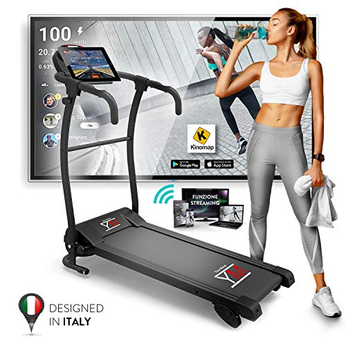 Photo of Folding Electric Treadmill With Cardio Sensor, 1500 W / 2.5 HP Peak Output