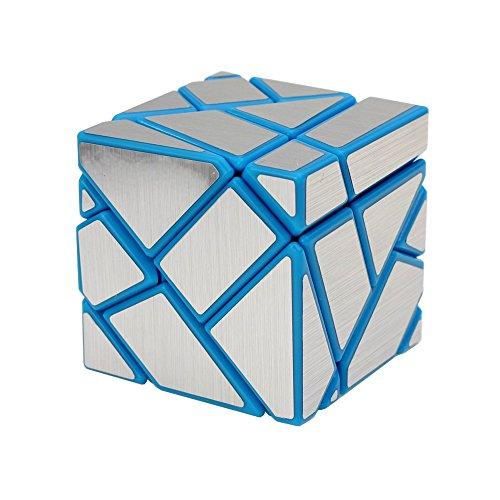 Wings of wind - DIY neuer Aufkleber Speed Magic Cube, 3x3x3 Ghost Puzzle Cube (Blau-silber)