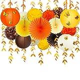 Pink Blume Fall Paper Lantern Kit Autunnali Decorazioni per Feste Giallo Arancione Marrone...