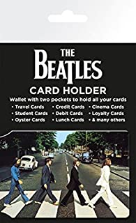 1art1 The Beatles Credit Card Holder Wallet for Fans Collectible - Abbey Road (4 x 3 inches)