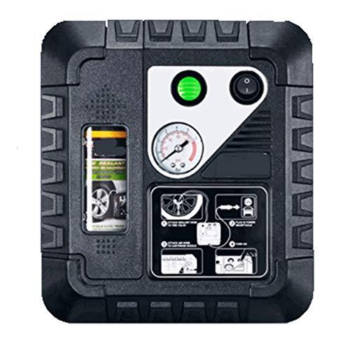 WNN-URG LED digital del compresor de aire de la bomba 12V del neumático del coche de la bomba for inflar con linterna de la emergencia 3 Boquilla de aire Adaptadores for coche canoa, Airbed, bicicleta