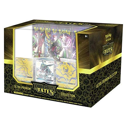 Pokemon TCG: Hidden Fates Ultra-Premium Collection | 15 Booster Pack | 3 Full-Art Foil Size Cards