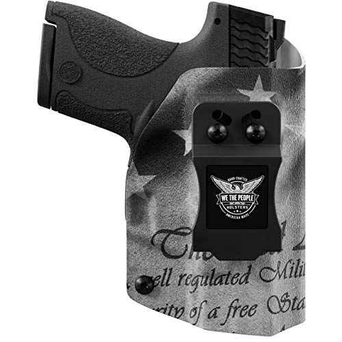 We The People Holsters - 2nd Amendment - Right Hand Inside Waistband Concealed Carry Kydex IWB Holster Compatible with Glock 19 23 32 45 19X Gen 3-4-5