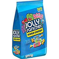 """Sold as """"Jolly Rancher original assorted bulk candy, variety pack, 80 ounce (pack of 1)"""" Perfect for everyday snacking, party favors, and colorful decor Bold fruit flavors include watermelon, green apple, cherry, grape, and blue raspberry A fat free ..."""