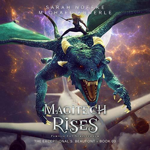 Diseño de la portada del título Magitech Rises