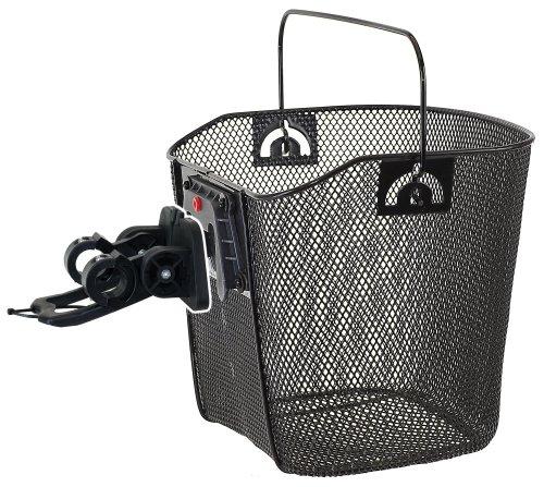Drahtkorb mit Clip-on-Halter, schwarz, 35x25x25/22 cm