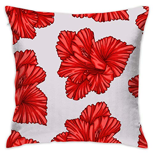 AOOEDM Flower Customized Square Woven Decorative Cotton Linen Single Pillowcase Cushion Cover for Sofa Sofa Or Bed Set 18x18 Inches