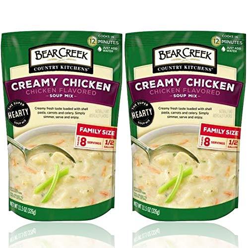 Bear Creek Soup - Creamy Chicken Soup Mix Flavor Bundle - Each Bag Makes 8 One Cup Servings - 11.5 oz Bags (Pack of 2 - Soup Mixes)