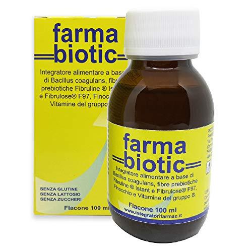 FARMABIOTIC SCIROPPO 100 ml, fermenti lattici probiotici e prebiotici, 20 ml di sciroppo garantiscono 20 miliardi di UFC dose giornaliera |con FINOCCHIO e VITAMINE B |SCEGLI TU LA TUA DOSE GIORNALIERA