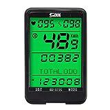 Wan&ya Contachilometri per Computer GPS per Bici Tachimetro per ciclocomputer Impermeabile Senza Fili con cardiofrequenzimetro Controllo cablato Retroilluminazione LCD Timer per Bicicletta