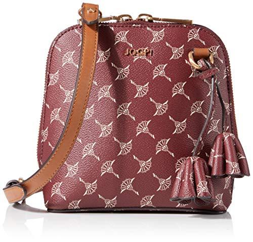 Joop! Schultertasche Cortina Livia aus Kunststoff Damen Handtasche mit Reißverschluss, Braun (Brown), 8x17x16.5 cm (B x H x T)