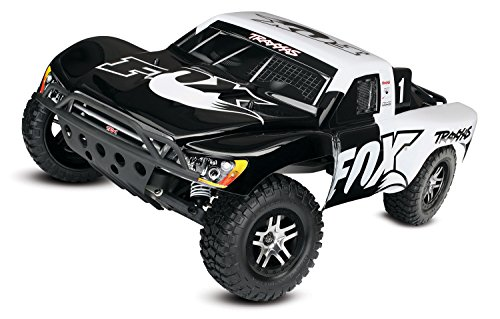 Traxxas 58076-4 Fox Scale Slash 2WD 1/10 Brushless Short Course Truck with TQi 2.4GHz Radio and TSM, Fox