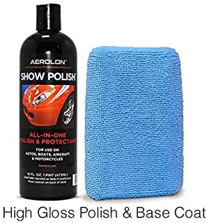 Aerolon - Show Polish & Sealer for Cars, Truck, Boat & Bike - Easy to Apply Base Coat Sealant for Ultimate Shine & Exterior Surface Protection - Better Than Regular Car Wax - 16oz Bottle & Applicator
