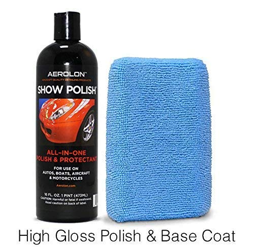 Aerolon Car Show Polish and Sealer for Cars, Truck, Boat & Bike - Easy to Apply Base Coat Sealant for Ultimate Shine and Exterior Surface Protection - Better Than Regular Car Wax - 16oz Bottle